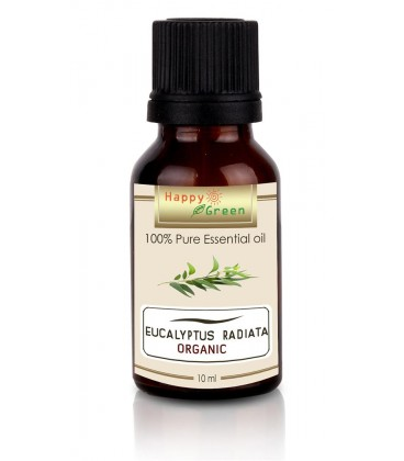 Happy Green ORGANIC Eucalyptus Radiata Essential Oil (10 ml) - Minyak Ekaliptus Organik