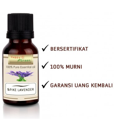 Happy Green Spike Lavender Essential Oil - Minyak Spike Lavender