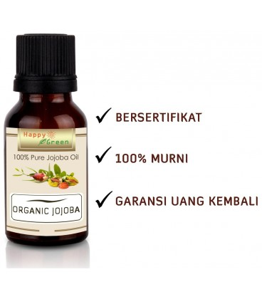 Happy Green Organic Jojoba Oil - Minyak Golden Jojoba Cosmetic Grade