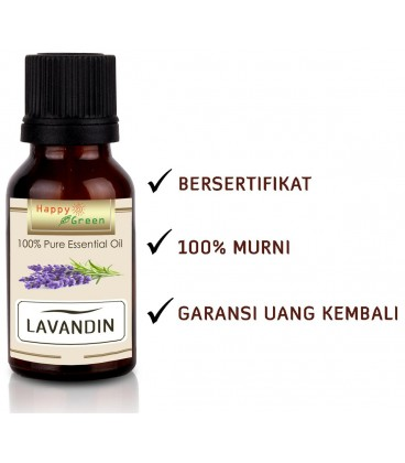 Happy Green Lavandin Essential Oil - Minyak Lavandula Grosso Bersertifikat
