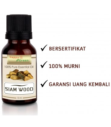 Happy Green Siam Wood Essential Oil - Minyak Kayu Siam