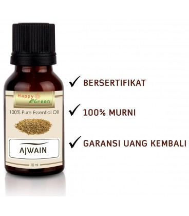 Happy Green Ajwain Essential Oil (10 ml) - Minyak Ajowan Murni