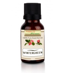 Happy Green Wintergreen Essential Oil - Minyak Gandapura Gaultheria procumbens