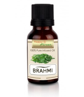Happy Green Brahmi Oil - Minyak Centella asiatica dan Bacopa Oil