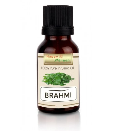Happy Green Brahmi Oil - Minyak Centella asiatica dan Bacopa Oil