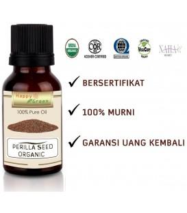 Bersertifikat Happy Green ORGANIC Perilla Seed Oil Murni