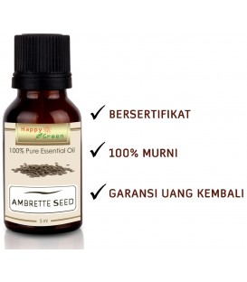 Happy Green Musk Mellow Essential Oil (5 ml) - Minyak Ambrette Seed