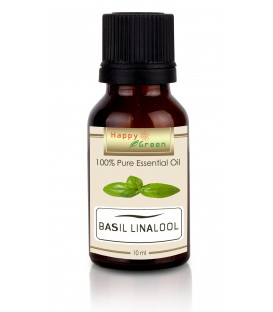 Happy Green Basil Linalool Essential Oil ( 10 ml) - Kemangi Linalool