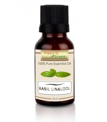 Happy Green Basil Linalool Essential Oil ( 10 ml) - Kemangi Linalool