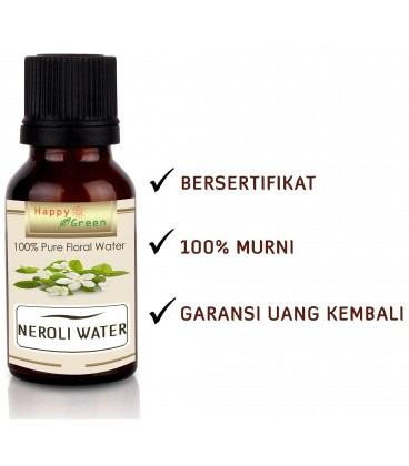 Happy Green Neroli Floral Water (30 ml) - Air Bunga Neroli Hydrosol