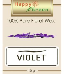 Happy Green Violet Floral Wax (10 gr) - Wax Bunga Violet