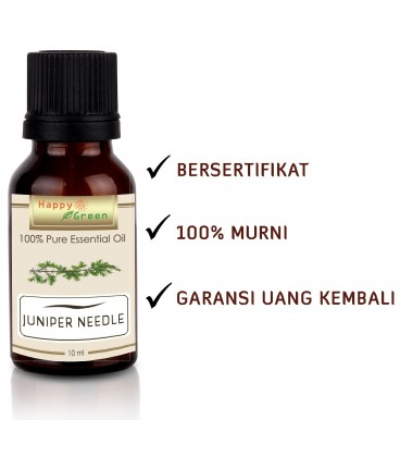Happy Green Juniper Needle Essential Oil (10 ml) - Minyak Juniper
