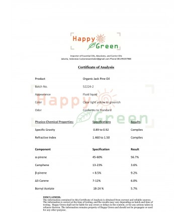 Happy Green Jack Pine Essential Oil  - Minyak Jack Pinus