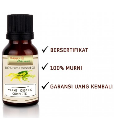 Happy Green ORGANIC Ylang Ylang Essential Oil - Ylang Oil Complete