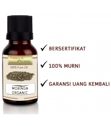 Happy Green ORGANIC Moringa Oil  - Minyak Kelor Organic USDA