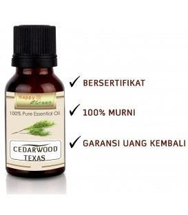 Happy Green Cedarwood Texas Essential Oil - Minyak Kayu Cedar