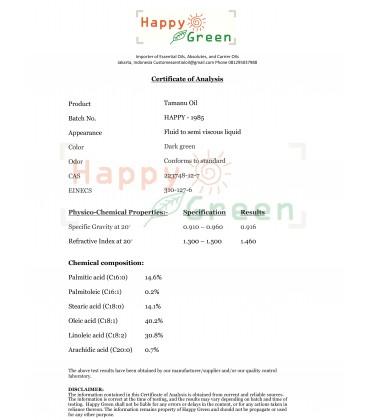 Happy Green ORGANIC Tamanu Oil - Minyak Tamanu Murni Organik