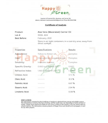 Happy Green Aloe Vera Extract - Minyak Aloe Vera Oil
