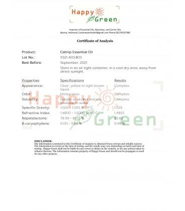 Happy Green Catnip Essential Oil - Minyak Essensial Catmint