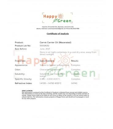 Happy Green Carrot Infused Oil -  Minyak Akar Wortel