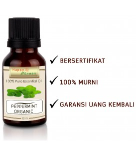 Happy Green ORGANIC Peppermint Essential Oil - Minyak Mentha Organik