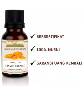 Happy Green ORGANIC Orange Essential Oil  - Minyak Atsiri Orange Organik