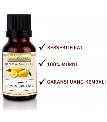 Happy Green ORGANIC Lemon Essential Oil - Minyak Atsiri Jeruk Lemon Organik