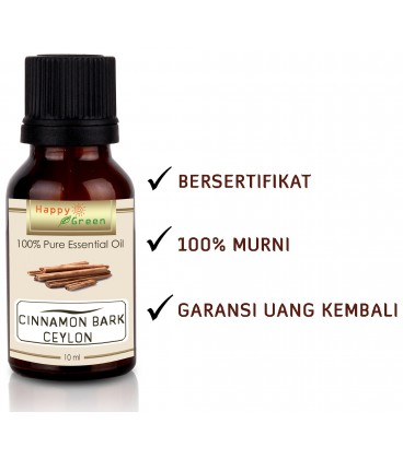 Happy Green ORGANIC Cinnamon Bark Ceylon Essential Oil - Minyak Essensial Kayu Manis Sri Lanka