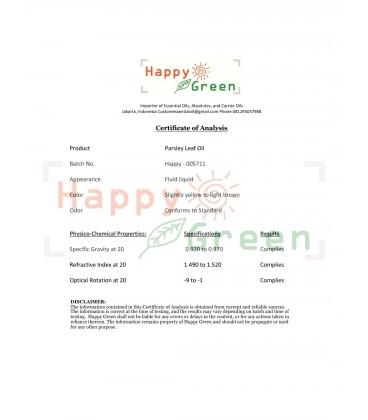 Happy Green Parsley Leaf - Minyak Daun Peterseli 100% Murni