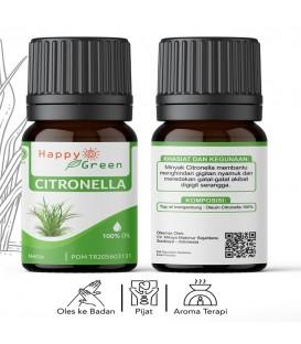 Happy Green Citronella Essential Oil (10 ml ) - Minyak Sereh Wangi