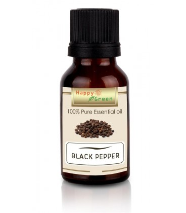 Happy Green Black Pepper Essential Oil (10 ml) - Minyak Lada HItam